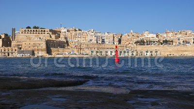 La Valette Du Grand Port De Malte banque de vidéos