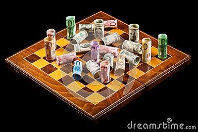 La valuta fa la guerra concetto