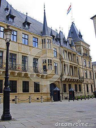 La ville du Luxembourg grand-ducale de palais Luwembourg