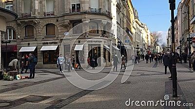 La ville du Luxembourg, rue grande de rue piétonnière principale banque de vidéos