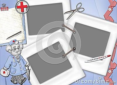 La vue pour la demande de règlement, récupèrent et pour des médecins.