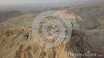 La vue supérieure, une partie de Masada demeure et forteresse clips vidéos