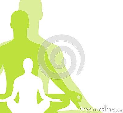 La yoga de la posición sentada figura 2