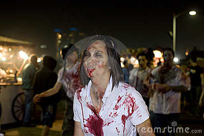 LA Zombie Walk 1 Editorial Stock Image
