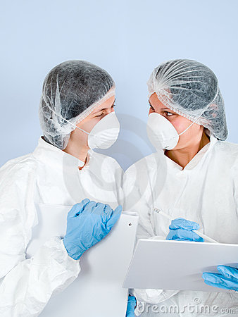 Free Lab Girls 05 Stock Images - 1586004