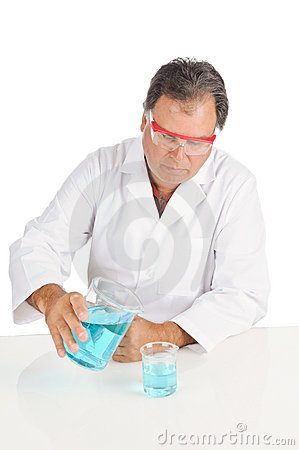 Lab Technician with safety glasses