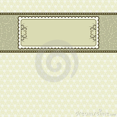 Label on beige background,
