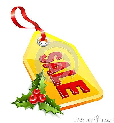 Label Christmas sale.