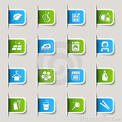 Free Label - Cleaning Icons Stock Image - 23488081
