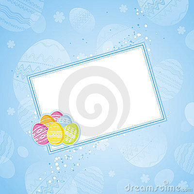 Label with easter eggs, vector