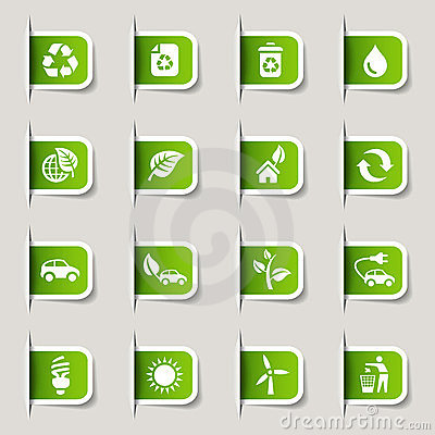 Free Label - Ecological Icons Stock Photo - 23488140