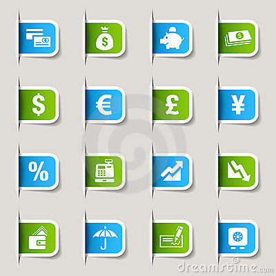 Label - Finance icons