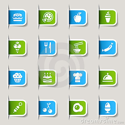 Label - Food Icons Vector Illustration