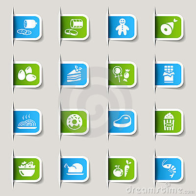 Free Label - Food Icons Stock Photography - 23488322