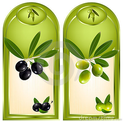 Free Label For Product. Olive Oil. Royalty Free Stock Photo - 12427885