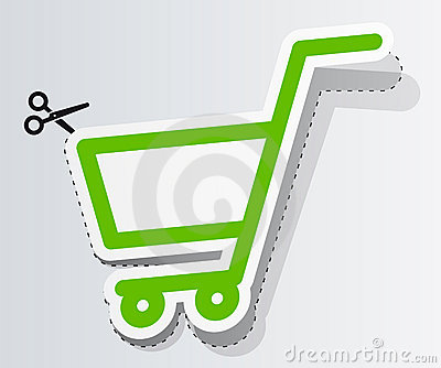 Label in form of cart