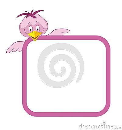 Label frame birds