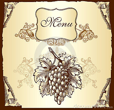Label with grapes