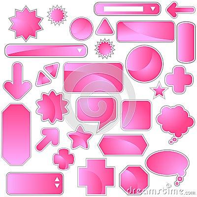 Label Set - Pink