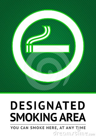 Label smoking place sticker