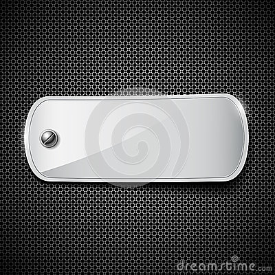 Label stainless steel background
