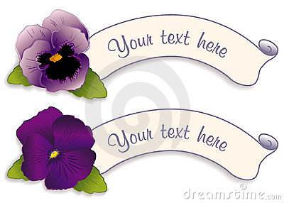 Label Tags with Lavender & Purple Pansies