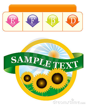 Label template for a product