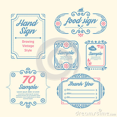Free Label Vintage Design Labels Infographic Template Royalty Free Stock Photos - 41014208