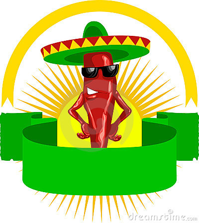 Free Label With Mexican Chili Stock Photos - 8090383