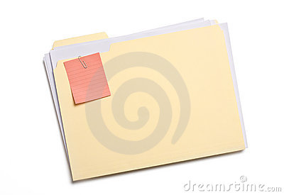 Labeled file folder