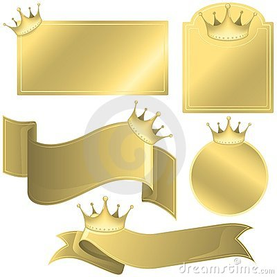 Labels with Crowns