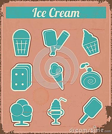 Crème glacée - labels d ensemble de cru