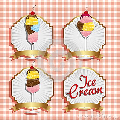 Labels ice cream