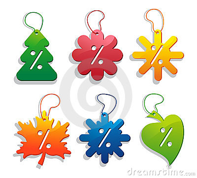 Labels of seasonal sales