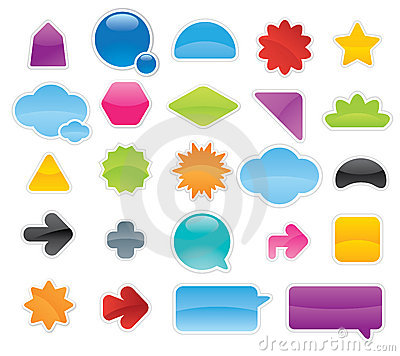 Free Labels Stickers Royalty Free Stock Image - 13406876