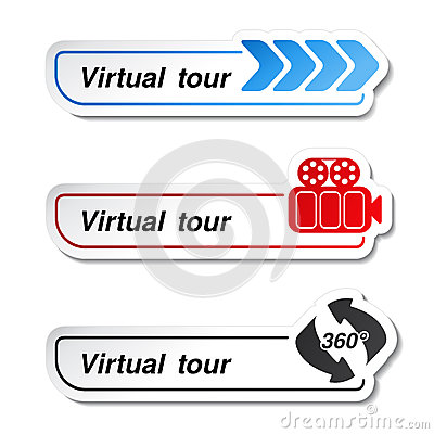 Labels - stickers for virtual tour