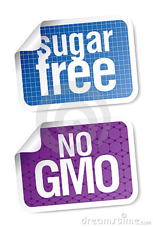 Labels for sugar free and bio food