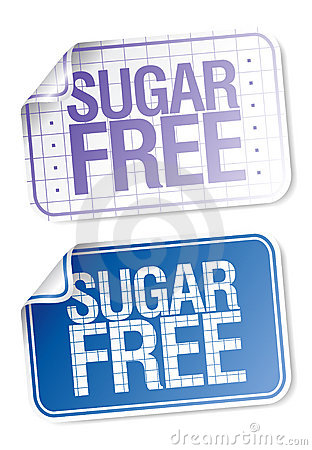 Labels for sugar free food