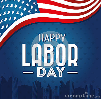 Free Labor Day Card Design, Vector Illustration. Royalty Free Stock Photography - 51688057