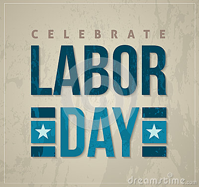 Free Labor Day Celebrate Poster Royalty Free Stock Image - 41550206