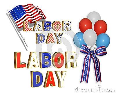 Labor Day clip art illustrations