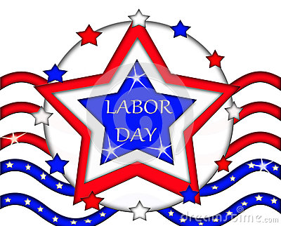 Labor Day Flag Sign Banner