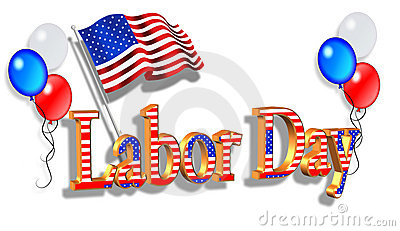 Labor Day Patriotic Border graphic