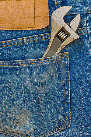 Labor jean pocket