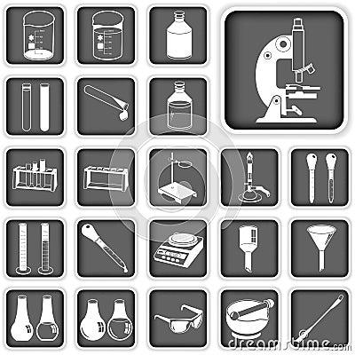 Laboratory buttons set
