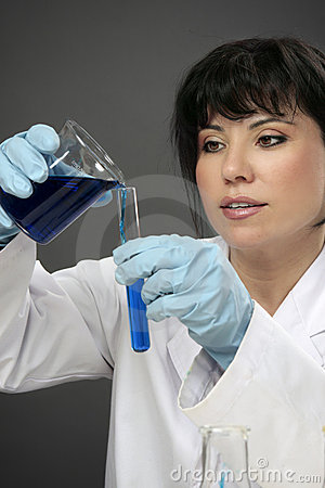 Laboratory chemist at work