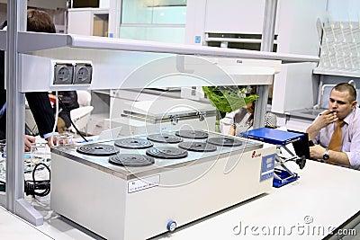 Laboratory equipment bath water Editorial Image