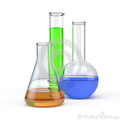 Laboratory flacks glassware