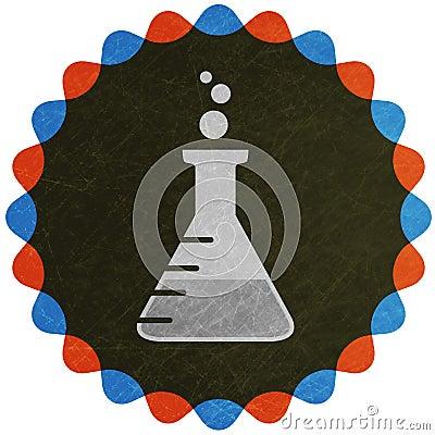 Laboratory flask symbol
