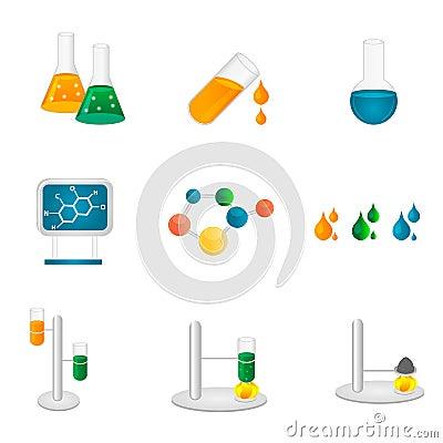 Laboratory icons